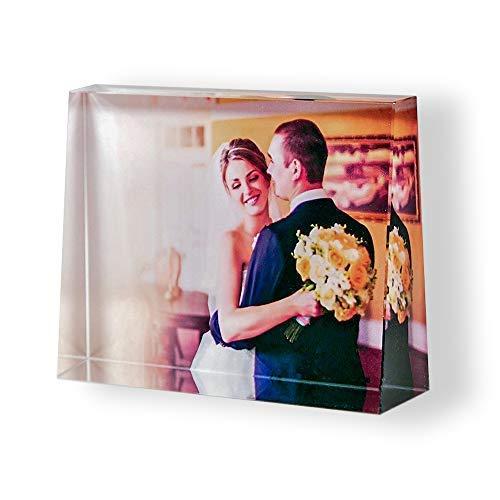 Isonio Glasfoto in Farbe - Ihr eigenes Foto auf echtes Viamant Glas gedruckt - Foto auf Glas als Fotogeschenk (Größe L Querformat 135 x 105 x 35mm)