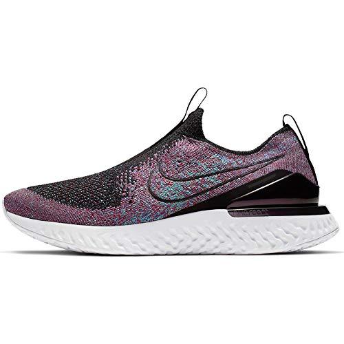 Nike Women's Epic Phantom React Flyknit Running Shoes (8.5, Black Multi)