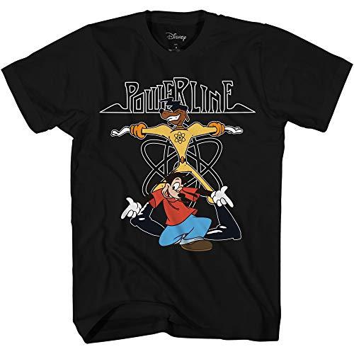 Disney Mens Powerline Goofy Shirt - A Goofy Movie - Powerline Max Goof Graphic T-Shirt (Black, XX-Large)