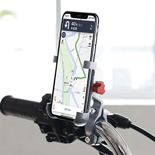NoNo telefoonhouder voor op de fiets, telefoonhouder voor elke intelligente telefoon: motorfiets, fiets, mobiele telefoonhouder, mountainbike, staande fietsaccessoires, zwart zilver