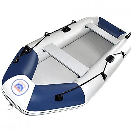KUANDARMX Bote Inflable, Canoa Inflable con Carcasa De PVC Resistente, Bote Inflable, Resistente Al Desgarro para Pescar Y Jugar En La Costa, Brushed Bottom Boat