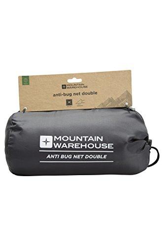 Mountain Warehouse Moustiquaires et Insectes de Vacances – Double – Filet en nid d'abeille Fin, Sac de Rangement Blanc