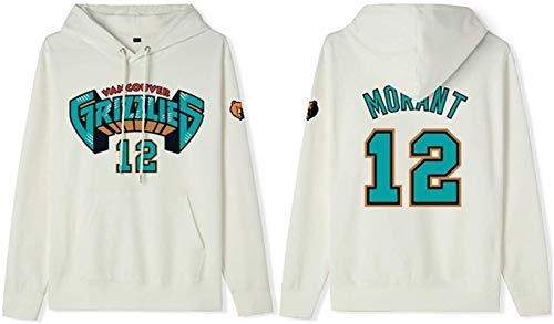 Sudadera de baloncesto con capucha para hombre, Memphis Grizzlies Ja Morant 12# de la NBA, sudadera de manga larga, unisex, el mejor regalo de cumpleaños S-3XL, unisex (color: A, talla: M)