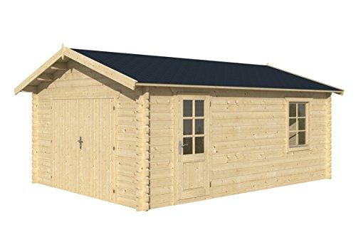 Alpholz Garage Rostock 400 x 550 cm Holzgarage Blockhaus