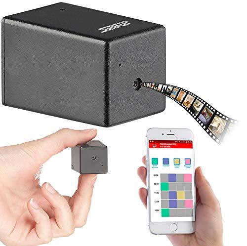 Somikon Wanze: Micro-HD-Videokamera, Bluetooth, Nachtsicht, Konfiguration per App/USB (Kleine Kamera)