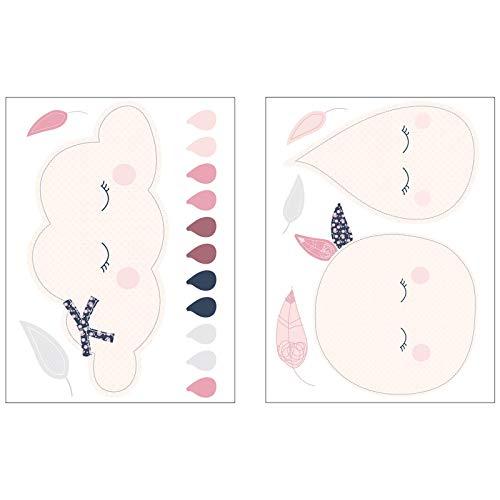 Stickers muraux Nuage Miss Fleur de Lune - Sauthon