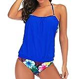 Dicomi Bikini Taglie Forti Donna Costumi da Bagno Due Pezzi Vita Alta Plus Size Spiaggia Coordinati Costumi Estate con Stampa Bikini