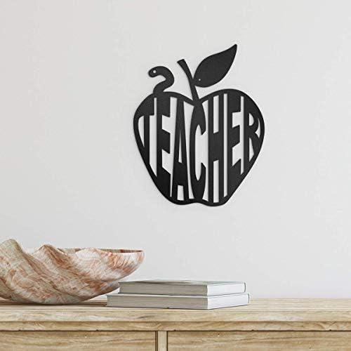 Redline Steel Very popular Teacher Challenge the lowest price Wall Decor - for Apple Art Monogram Teache