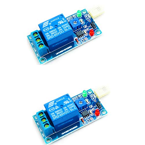 HiLetgo 2pcs HR202 Humidity Sensor Relay Switch Humidity Control Switch DC 5V 1 Channel Humidity Sensor Relay Module for Arduino