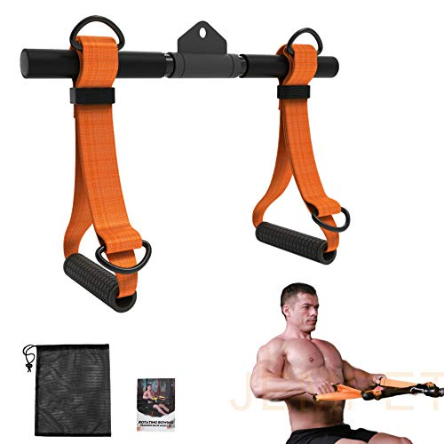 JEMPET Exercise Machine Attachments, Rowing Machine Handle Detachable, All in One Workout Strap Exercise Handles