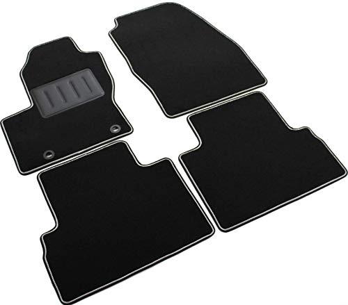 Il Tappeto Auto, SPRINT01308 - Alfombrillas de moqueta para Coche, Color Negro, Antideslizantes, Borde Bicolor, talonera Reforzada de Goma, para C-MAX II Entre 2010 y 2013.