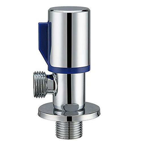 Pumprout Cromo Agua fría Caliente Válvula de Cierre de ángulo de latón Accesorio de Grifo Válvula de ángulo Entrada y Salida Redondas de Agua fría y Caliente