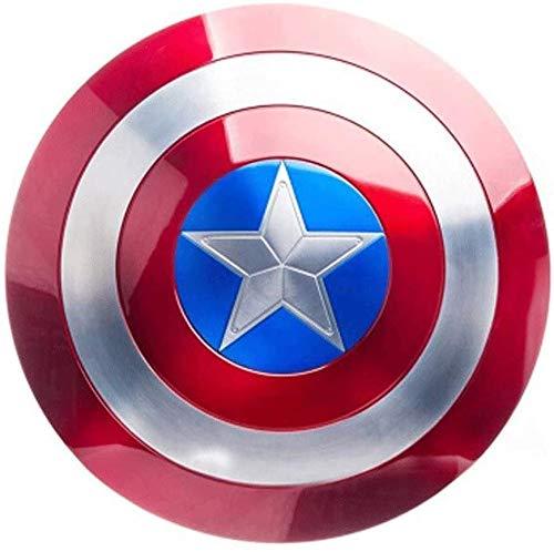 HTDZDX Fting Capitán América Escudo de Adultos - Todos los Metales 1:...