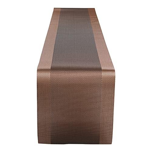 Amazon Brand-Umi Camino de Mesa, Camino de Mesa Fabricado en Tejido de PVC Lavable y Resistente a la Decoloración, Resistente al Calor, Apto para Restaurantes, Picnics al Aire Libre, Fiestas, Etc.