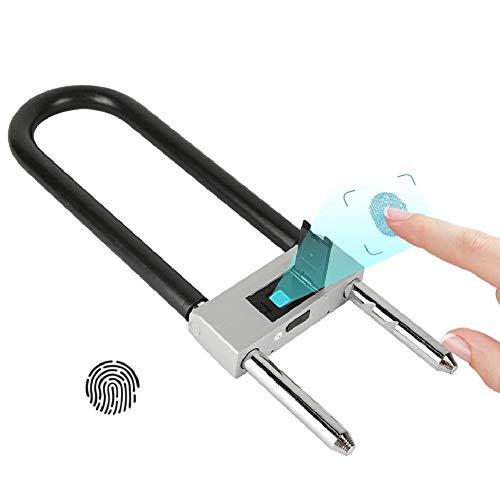 Hakeeta vingerafdruk hangslot, intelligent digitaal veiligheidsslot met USB-oplading, anti-diefstalbeveiliging, sleutelloos slot, perfect voor auto, fiets, scooter, motor of poort