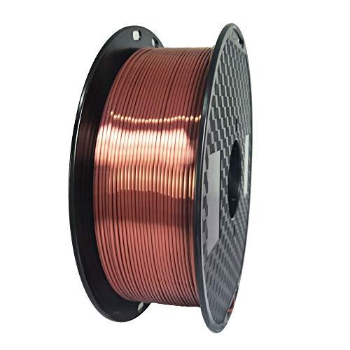 FAN-MING-N-3D, 3D-tryck silke PLA filament 3D skrivare filament 1,75 1 kg siden liknande serie svart färg pla silke lila material (färg: Silke röd koppar)