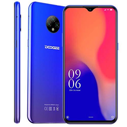 DOOGEE X95 Smartphone ohne Vertrag Günstig,Dual-SIM 4G Handy, 6,53 Zoll Display, Android 10, 4350mAh Akku, 2GB+16GB,128GB erweiterbar, Face ID/GPS - Blau