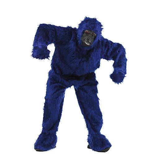 Limit Sport – Déguisement peluche gorille pour adulte, couleur BLEU, Taille XL (ma067z)