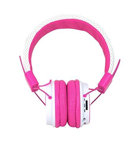 ZEALOT Stella Bluetooth Kopfhörer Stereo Headset Wireless Ohrhörer Tragbares Radio TF Karte–Pink