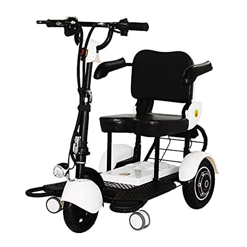 Scooter de Movilidad eléctrico Plegable portátil de 3 Ruedas, Dispositivo de Silla...