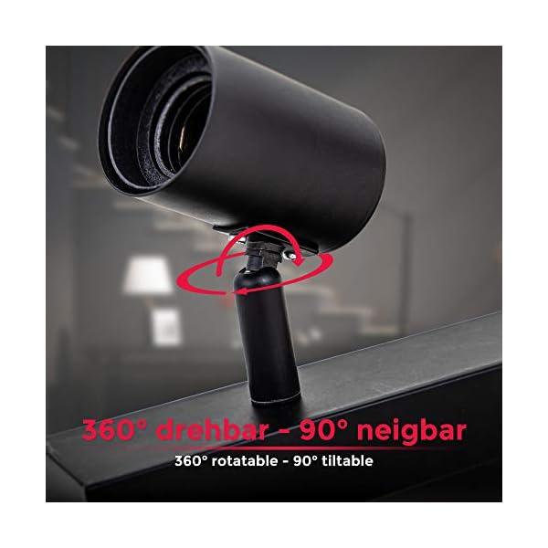 Vintage-Deckenleuchte-I-Retro-Deckenlampe-exkl-60W-E27-Leuchtmittel-I-Landhausstil-Deckenstrahler-I-schwenkbar