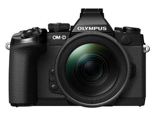 Olympus E-M1 OM-D Systemkamera (16,3 Megapixel, 7,6 cm (3 Zoll) TFT LCD-Display, Full HD, HDR, 5-Achsen Bildstabilisator) inkl. M. Zuiko Digital ED 12-40mm Objekitv Kit, schwarz