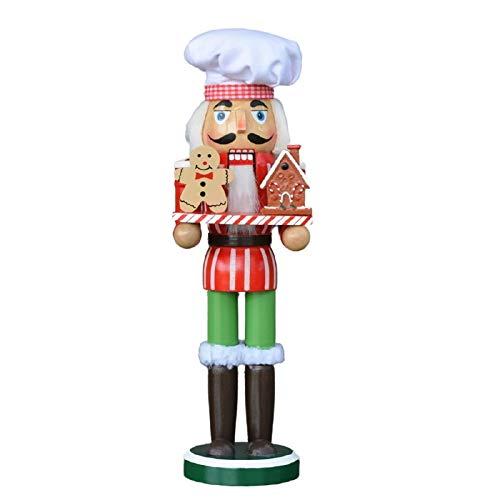 WEN 11-Zoll-Lebkuchen-Chef Nussknacker Zucker Chef Holzfigur for Weihnachten Home Dekoration Ornament-Kind-Geschenk
