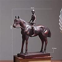 彫像置物彫刻樹脂装飾戦争馬像ヴィンテージ馬像家の装飾アクセサリー動物像樹脂抽象像、L