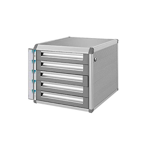 Archivador plano Aleación de aluminio de escritorio cajón clasificador de Gabinete de almacenamiento de archivos Box Office Supplies cómodo Pull-en Diseño de aleación de aluminio (31.5X35X30CM, 28.6X3