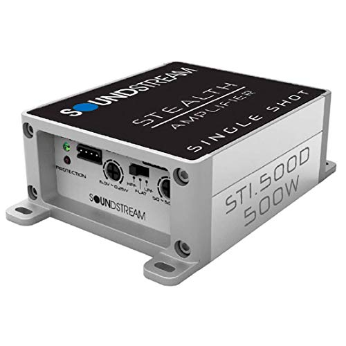 Soundstream Stealth Single Shot ST1.500D 150W RMS at 2 Ohms Micro Class D Mono Subwoofer Amplifier 500W Max