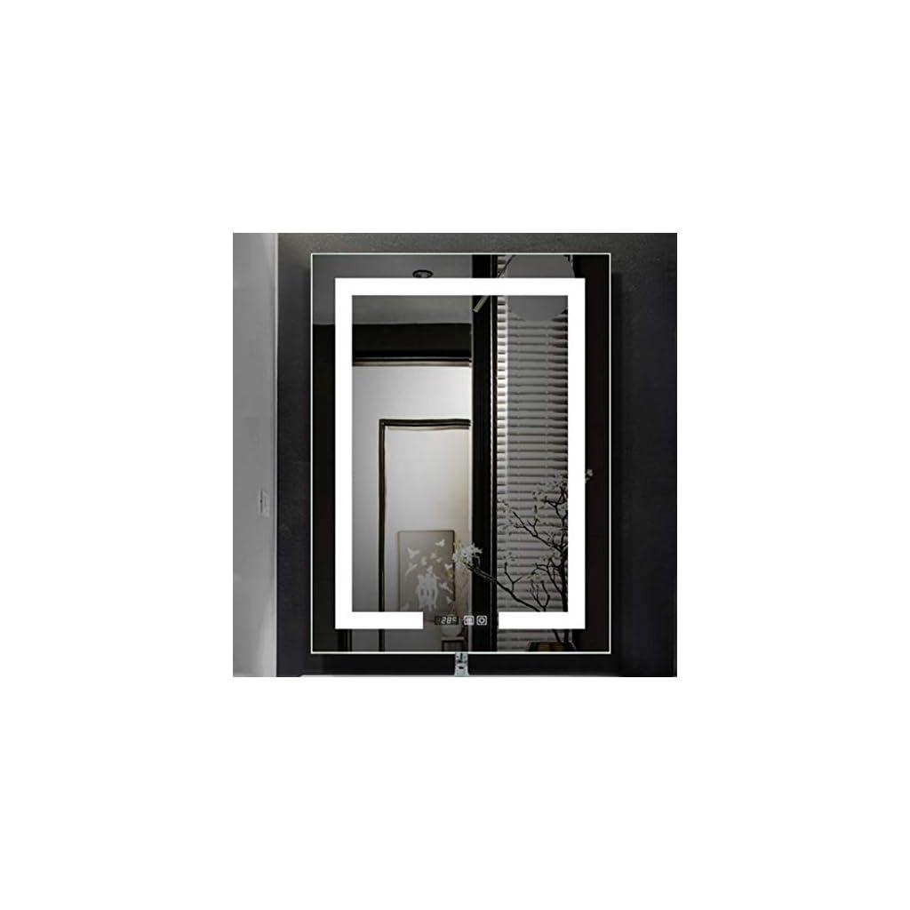 Miroir de Salle de Bain Bathroom Mirror LED Miroir salle de bains avec éclairage mural vertical ou horizontal salle de…