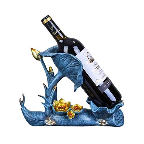 xiaokeai Botellero Estante del Vino Creativo de Hoja de Loto Vino Soporte de la Botella Bastidor Premium Resina, Regalo de la Novedad for el hogar de la Cocina de decoración de Interior Vino Estante