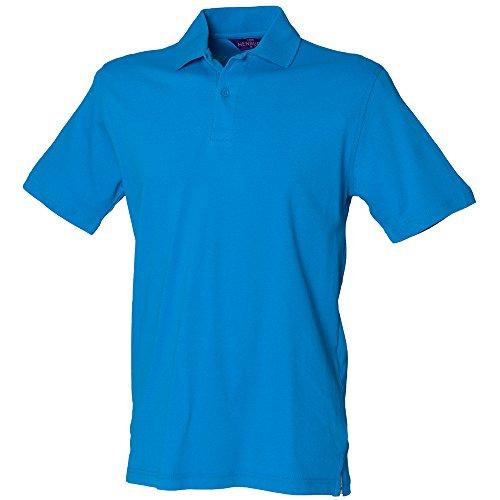 Henbury - Polo - Homme Bleu Bleu Saphir Moyen