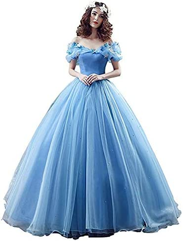Datangep Wome s Blue Puffy Banquet Gown for Girl s Special Occasions US 14 product image