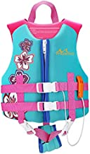 MoKo Life Jackets for Kids 27-46 lbs, Children Life Vest Swimming Aid Life Jacket Cute Pattern Watersports Swimming Vest Flotation Device for Toddlers Boys Girls, M Size - Lake Blue