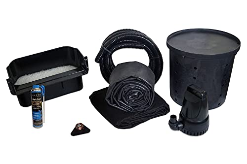 HALF OFF PONDS Simply Waterfalls 3300 Pond Free Waterfall Kit, with 10 ft by 25...