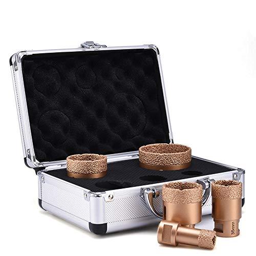 Soldado para baldosas de granito de porcelana Cerámica de vidrio Juego de brocas de diamante seco de corte de mármol 6mm-68mm Herramienta de sierra de corona soldada al vacío D30
