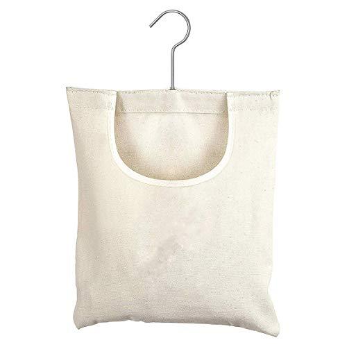 DERCLIVE - Bolsa de almacenamiento de lona Oxford para colgar ropa de lavandería, organizador de almacenamiento para colgar para el hogar, al aire libre, cuerda de tendedero de ropa, 12,5 x 10,5 W