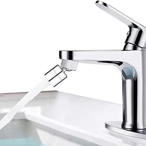 Hibbent doppelfuntionaler Wasserhahn-Luftsprudler für Küche und Bad, Mischdüse 2-Strahlen, belüfteter Strahl und Brausestrahl, großer Drehwinkel drehbare Schwenkbrause, 22mm Innengewinde (FM22)