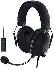Razer BlackShark V2 Auriculares con Tarjeta de Sonido USB, Auriculares para Juegos Esports, Cable con Controlador de 50 mm, Reducción de Ruido, para PC, Mac, PS4, Xbox One y Switch