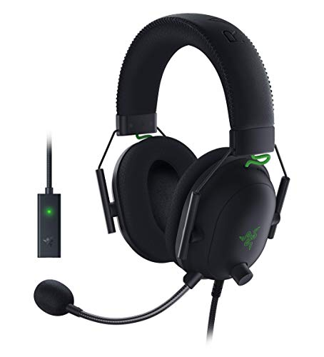 Razer BlackShark V2 con Scheda Audio USB - Cuffie da gioco premium Esports, Cablate Multipiattaforma, Driver da 50 mm, Cancellazione Passiva con PC, Mac, PS4, Xbox One, Switch