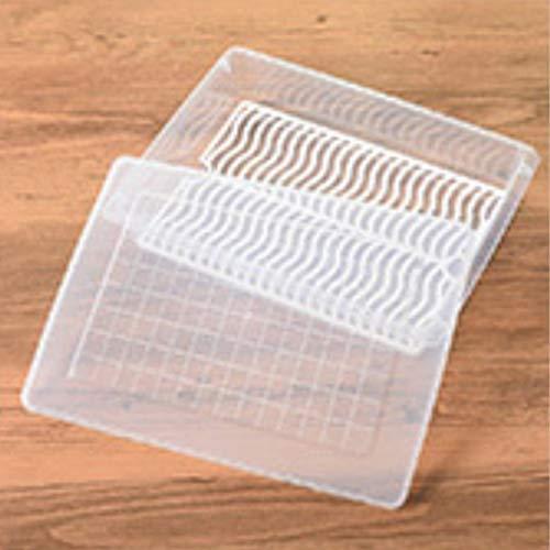 HehiFRlark - Caja de almacenaje para frigorífico o cocina (plástico, caja de almacenaje congelada), color blanco