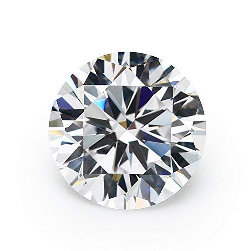 KAPU Size 1~10Mm Aaaaa Grade White Cubic Zirconia Stone Round Cut Loose Cz Stone For Jewelry Jiangyuangems,8Mm (20Pcs)