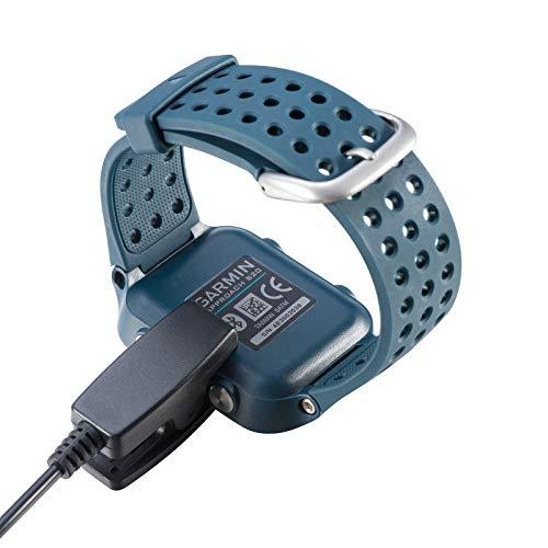 USTIYA Cables Watch Garmin vivomove HR Approach S20 235 Forerunner 235L 735XT 645 630 230 Carga(Negro)