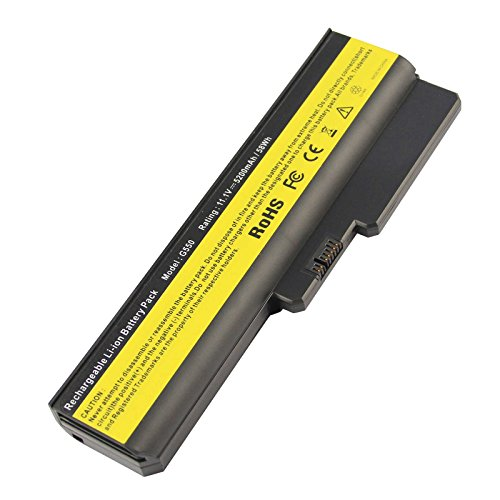 ARyee 5200mAh 11.1V Batería del portátil Reemplace para Lenovo 3000 G430 G430a G430l G430m G530 G530a N500 Series Ideapad G430 G550 G450 G450a G450m B460 B550 G455 G555 V460 V460a