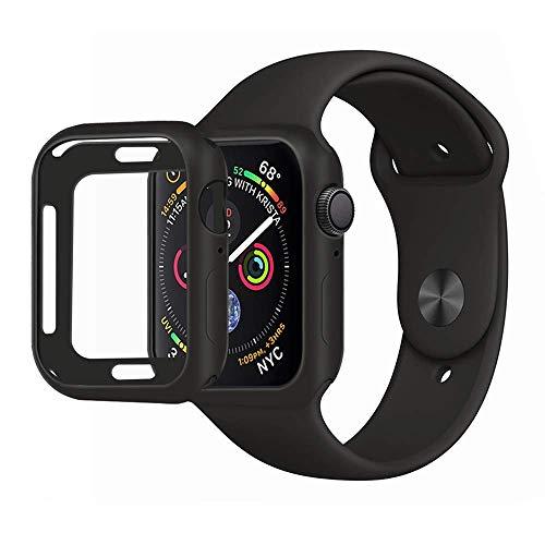 AVANA Apple Watch Series 6/5/4/SE Hülle 44mm Bildschirmschutz Dünne Weiche Silikon TPU Cover Schutz Slim Fit Hülle Schutzhülle für iWatch Series 6/5/4/SE (44mm) - Schwarz