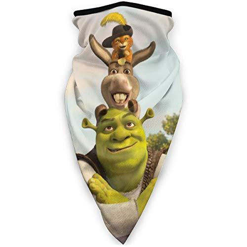 Aimhouse Anime Shrek Maske Kopfbedeckung Gesicht Schal Abdeckung Outdoor Kopfband Turban Hals Winddicht Fall Sonnenschutz Nahtloses Bandana Halstuch
