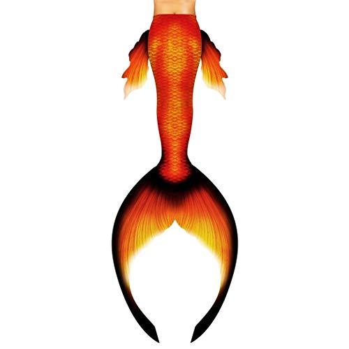 WERTYU cola de sirena para niñas, bikini con aleta colorida, cola de sirena para natación (tamaño: tamaño personalizado)
