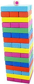 48 PCS Wooden Colourful Jenga Blocks Educational Toy Gift For Children