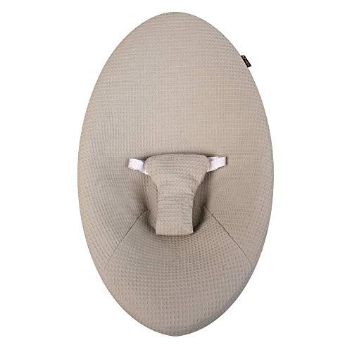 UKJE - Funda para balancín 4Moms Mamaroo (tejido de piqué y algodón Öko-Tex), color marrón y beige